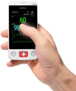 Συμπαγής, ανθεκτική, όχι μεγαλύτερη από ένα κινητό, εύκολη στην χρήση τηλεμετρία μοντέλο Benevision ΤΜ80 για παρακολούθηση ζωτικών παραμέτρων